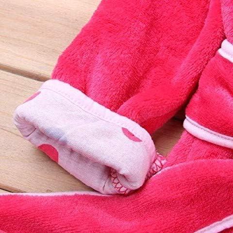 EVRYLON Bademantel Nachthemd m/ädchen mit Hut