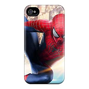 Iphone 4/4s BTs18650cDHf Unique Design Realistic The Amazing Spider Man 2 New Skin Excellent Cell-phone Hard Cover -JasonPelletier