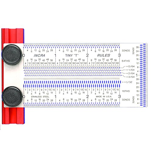 INCRA TINYT03 Precision Tiny T-Rule 3-Inch - Incra Precision Marking Rules
