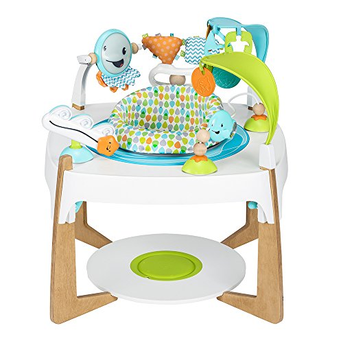 Evenflo ExerSaucer 2-in-1 Activity Center + Art Table, Gleeful Sea