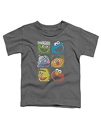 Sesame Street Classic TV Show Group Squares Little Boys Toddler T-Shirt Tee