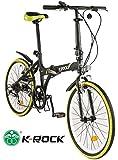 Bicicleta Plegable Krock AH2 Ligera R22 Retro 7 Velocidades Shimano