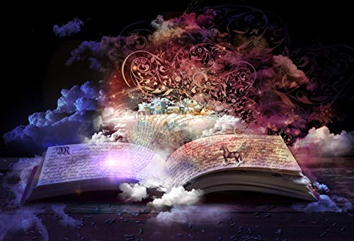 - 7x5ft Fairy Tale Open Magic Book Stories and Educational Stories Floating Pictorial Cloth Customized Photography Backdrops Digital Printing Background Photo Studio Prop