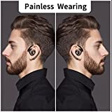 Aminy Bluetooth Headset 16-Hr Playing Time V4.2 Car Bluetooth Headset Wireless Earphones Mic Cell Phone Noise Cancelling Bluetooth Earpiece iOS Android (Updated Version)