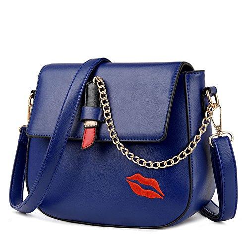 BAILIANG Chain Blue Fashion La Bolso Del Mujer Hombro PU Para Lipstick De De Crossbody Bolso 11AwT