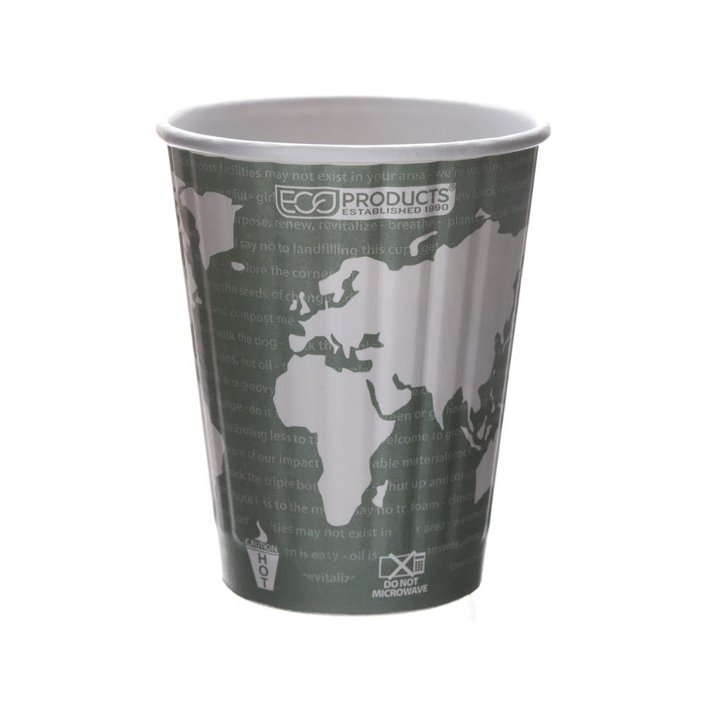 Eco-Products EP-BNHC12-WD Compostable Insulated Hot Cups, 12 oz, (Case of 600)
