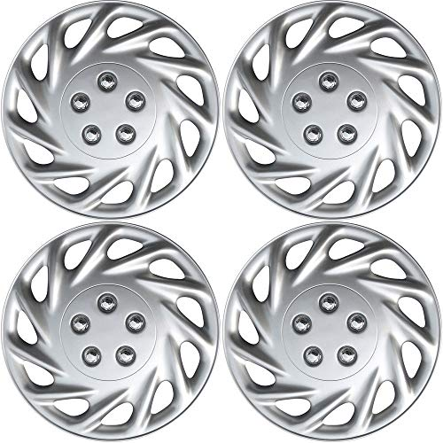 - 16 inch Hubcaps Best for 2007-2011 Toyota Camry - (Set of 4) Wheel Covers 16in Hub Caps Silver Rim Cover - Car Accessories for 16 inch Wheels - Snap On Hubcap, Auto Tire Replacement Exterior Cap