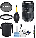 Tamron Auto Focus 70-300mm f/4.0-5.6 Di LD Macro Zoom Lens for Canon + High Definiton UV Filter + Lens Cleaning Pen + Commander Dust Blower + Lens Starter Kit + Lens Pouch - International Version