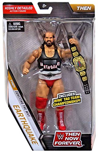 WWE, Elite Collection, Then Now Forever Earthquake (The Natural Disasters) Exclusive Action Figure, 7 Inches