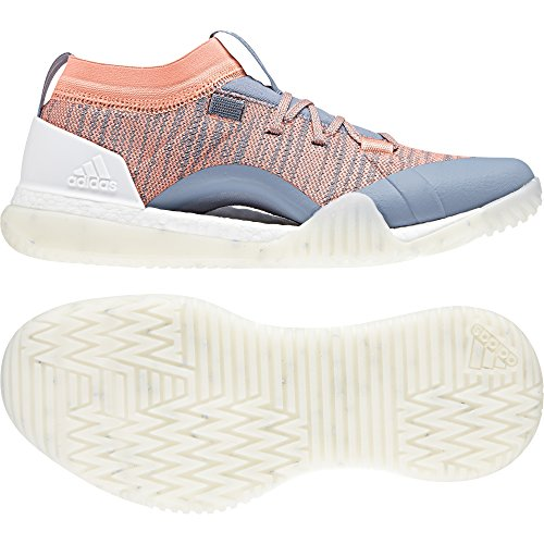 adidas Pureboost X TR 3.0, Chaussures de Fitness Femme Gris (Raw Grey/chalk Coral/crystal White)
