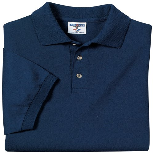 c5fb268e 50%OFF Jerzees mens 5.6 oz. 50/50 Jersey Polo with SpotShield(437)-J ...