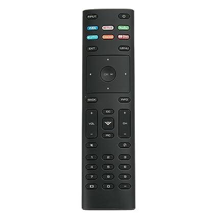 New Remote Control XRT136 with Hulu Netflix XUMO iheart VUDU App fit for  Vizio TV D55-F2 D50f-F1 D24f-F1 D43f-F1 D32f-F1 P75-F1 d32h-f4