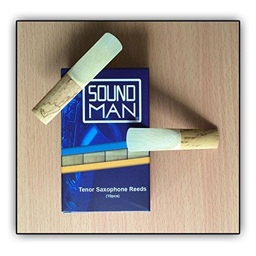10lengüetas saxofón Tenor Soundman Reeds para el uso diario lengüeta Saxo Saxophones 10piezas
