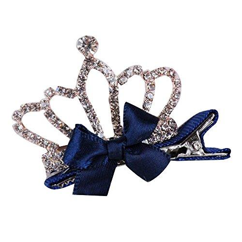 Crown 2 Princess Kid Pcs Hair Shaped Clip USport Blue Baby Hairpin for Charm Navy Headdress 0dRFnq