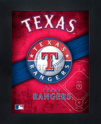 Texas Rangers 3D Poster Wall Art Decor Framed | 14.5x18.5"