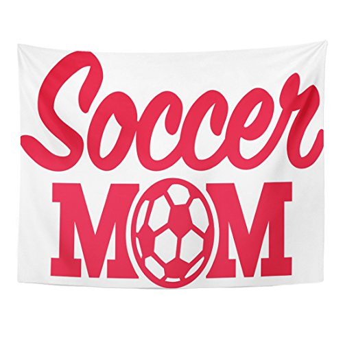 m Soccer Mom with Ball Activity Champions Home Decor Wall Hanging for Living Room Bedroom Dorm 60x80 Inches (Team Mom Tapestry Throw)