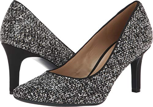 (Naturalizer Women's Natalie Black/White Metallic Tweed 8 M US M)