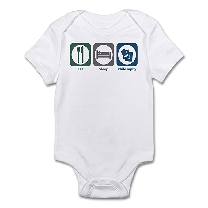 b05f5a8fc Amazon.com: CafePress Eat Sleep Philosophy Infant Bodysuit Baby Bodysuit:  Clothing