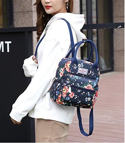 dc21bb8951 Daypack Zaini Impermeabile Casual Blu2 Moda Donna Stampa Semplice Square  Zaino Università Skitor Elegante Nylon Viaggio Scuola Multifunzione Grandi  ...