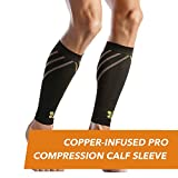 CopperJoint Copper-Infused PRO Compression Calf Sleeve, High-Performance Design Promotes Proper Blood Flow and Offers Superior Compression & Support for All Lifestyles, Pair (X-Large)