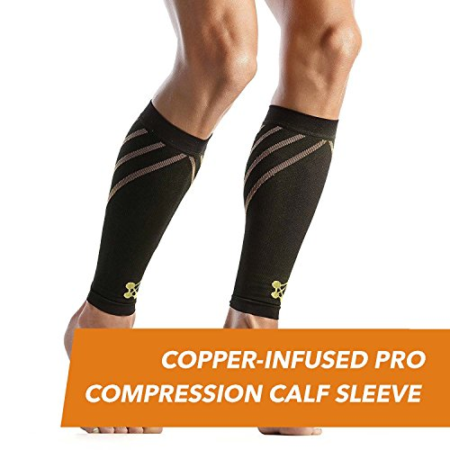 CopperJoint - Copper-Infused PRO Compression Calf Sleeve, High-Performance Design Promotes Proper Blood Flow and Offers Superior Compression & Support for All Lifestyles, Pair (X-Large)