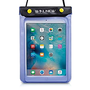 WALNEW Universal Waterproof eReader Protective Case Cover for Amazon Kindle Oasis/Paperwhite Keyboard/Touch/Kindle Fire 7, Sony eBook Reader Wi-Fi, Kobo Touch,Nook Simple Touch, iPad Mini, Blue