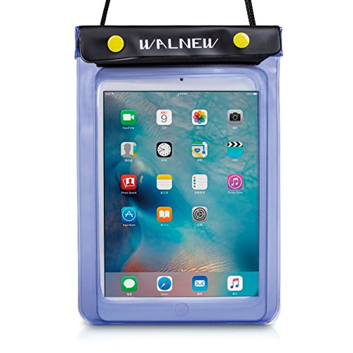 WALNEW Universal Waterproof eReader Protective Case Cover for Amazon Kindle Oasis/Paperwhite/Kindle 2019/Keyboard/Kindle Fire 7, Kobo Touch,Nook Simple Touch, iPad Mini, Blue