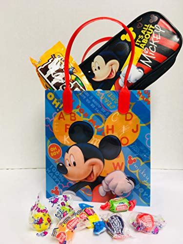 (Gift Set Kids Mickey Mouse Valentine's Day (1) Mickey Mouse Goodie Pack (1) Gift Bag (1) Assorted Goodies)
