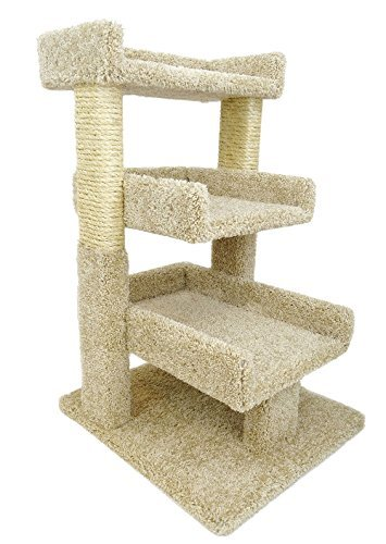 New Cat Condos Premier Triple Cat Perch, Beige
