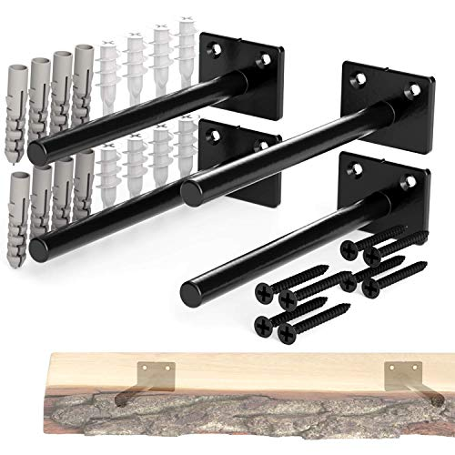 Solid Steel Floating Shelf Brackets – 6