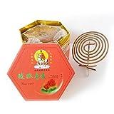 Yaotao 48pcs Incense Coils Spiral Sticks Flower 4HR (Rose)
