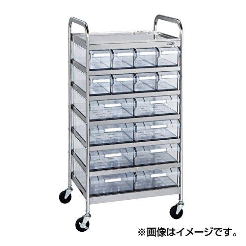 サカエ (SAKAE) CSワゴン透明ボックス付 CSB-12RSU 022642 《ステンレス製品》 B01N2T33BB