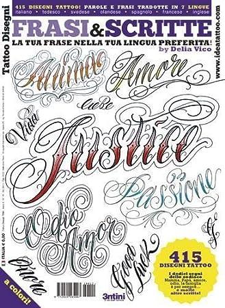 Amazon.com: Lettering & Script Tattoo Designs by Delia Vico - Tattoo ...