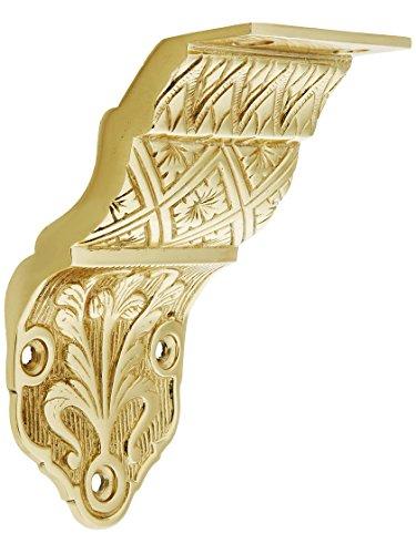 House of Antique Hardware R-010SE-0700085 Ornate Victorian Cast Brass Handrail Bracket in Polished Brass