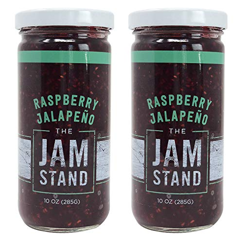 - The Jam Stand, Raspberry Jalapeño Jam, 10 oz (Pack of 2)