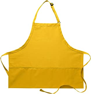 product image for DayStar Apparel Premium Quality 3-Pocket Bib Apron with Adjustable Neck and Extra Long Ties - Style 200