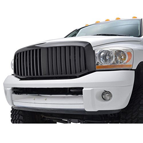 3500 Carbon Fiber (E-Autogrilles ABS Replacement Grille Grill with Shell for 06-08 Dodge Ram 1500/2500/3500 - Carbon Fiber Look)