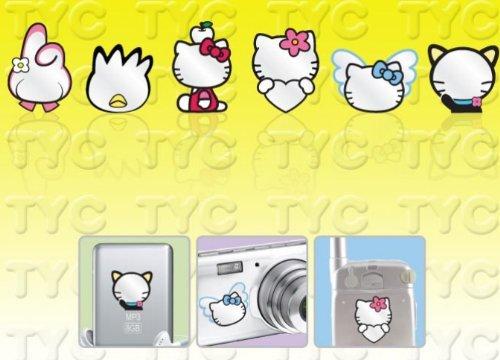 Hello Kitty Mobile Mirror Sticker Set - Princess Mirror Kitty Hello