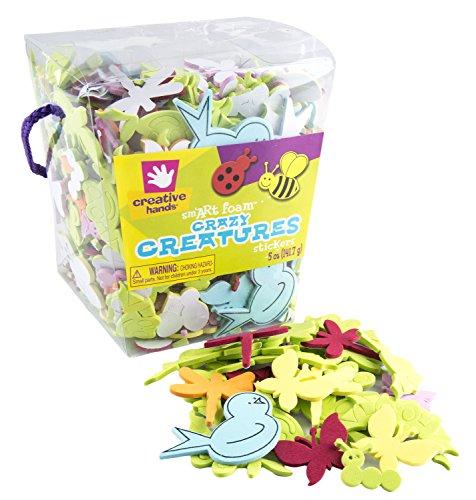 FCM17322D - Foam Stickers, Creatures, 5oz Bucket -