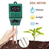 Soil PH Meter 3 in 1 Soil Tester Kit with Moisture PH Value and Light Sensor Hygrometer for Indoor Outdoor Plants Care Easy to Use and Fast Read For Gardening Farming Lawn