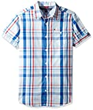 Tommy Hilfiger Corbin short sleeve plaid button down woven shirt.
