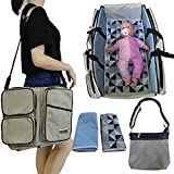 Stylish Diaper Bag Set/Converts to Travel Bassinet/Baby Changing Bags | Includes 2 Sheets & Additional Bag for Added…