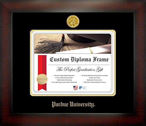 Celebration Frames Purdue University 8½ x 11 Mahogany Finish Infinity Diploma Frame