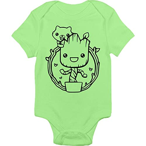 Handmade Baby Cloths For Boys And Girls Guardians Of The Galaxy Bodysuit Baby Shower Gift Idea Baby Groot