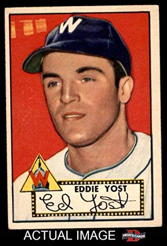 1952 Topps # 123 Eddie Yost Washington Senators (Baseball...