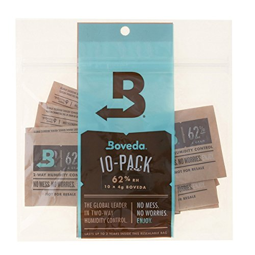 Boveda 62 Percent RH 2-Way Humidity Control, 4 gram - 10 (Humidity Pack)