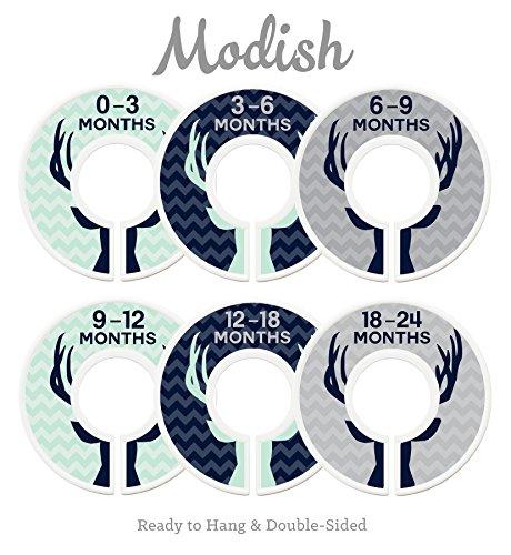 Modish Labels Baby Nursery Closet Dividers, Closet Organizer