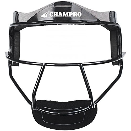 Face Mask Softball (CHAMPRO CM01 FIELDERS FACE MASK SOFTBALL CP Black ADULT 6.75-7.5)