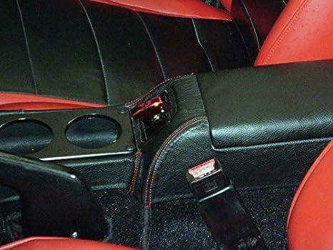 Amazon.com: RedlineGoods center console cover compatible with Mazda Miata NA 1990-97. Black leather-Black thread: Automotive