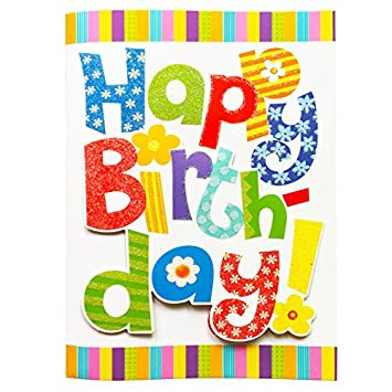 Happy Birthday Music Card Interactive Colorful Greeting Cards With To You Song